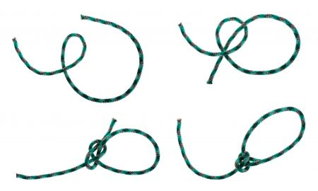 Tying a bowline knot